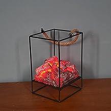 VELIHOME Luz de lareira de carvão sintético 3D, portátil, sem riscos, festival, decorativa, ótimo presente de Natal, Dia d...