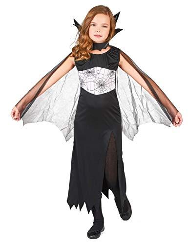 DEGUISE TOI - Déguisement sorcière araignée Fille Halloween - M 7-9 Ans (120-130 cm)