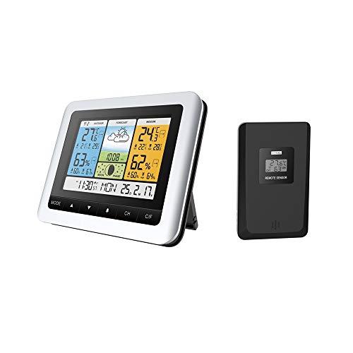 MagiDeal LCD Digital R/éveillon Horloge Thermom/ètre Temp/érature M/ét/éo Hygrom/ètre De Bureau Voyage