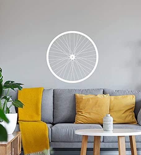 shirt84.de - Adhesivo decorativo para llanta de bicicleta (40 x 40 cm), color blanco