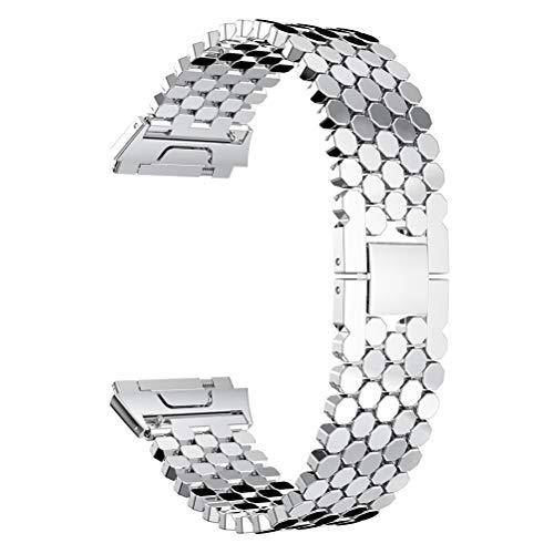 Hemobllo Moda de Lujo de Acero Inoxidable Reloj Pulsera Banda Correa Escala Estilo Reloj Banda reemplazo…