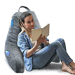 Springcoo back rest Reading Pillow bed with arms and neck roll