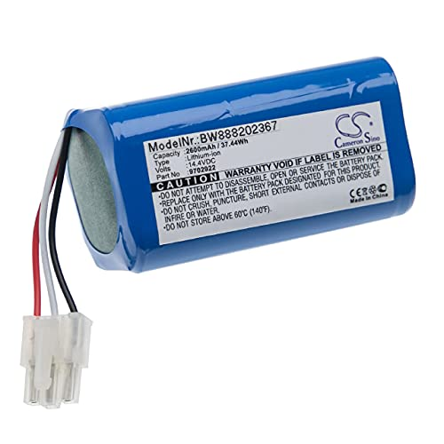vhbw Batería recargable compatible con Miele RX1-SJQL0, Scout RX1 aspiradora, robot limpieza (2600 mAh, 14,4 V, Li-Ion)