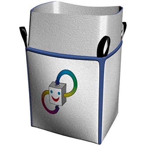 Big Bag 90x90x110 cm mit 4 Schlaufen und Einfüllschürze, 5000 KG Bruchlast DIN EN ISO 21898