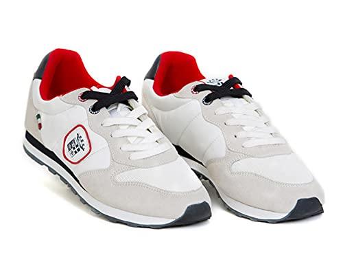 Marin Militare Sneakers Casual Uomo, Mesh e Camoscio, White, Urban, Man, MM1114 (Numeric_43)