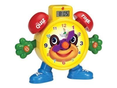 PowerTRC Tell The Time Electronic Learning Teach Time Clock Educational Toy   Education Toy   Learning Clock and Telling Time   Kids