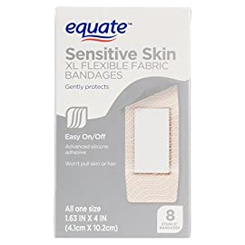 Equate Sensitive Skin XL Flexible Fabric Bandages 8 Ct 1