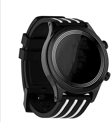 ZHENAO Moda Smart Watch, Rastreador de Fitness Y Ritmo Cardíaco a Prueba de Agua Bluetooth Smartwatch Sports Activity Tracker Pulsera Inteligente-Blanco Y Negro Desgaste diario/Bl