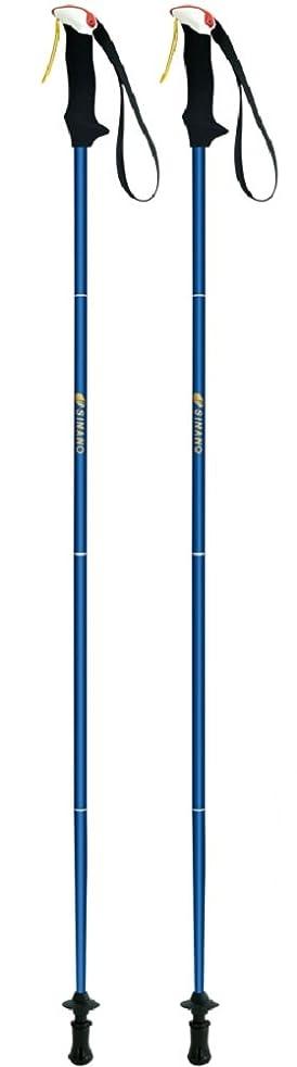 カスタム無意味不安定シナノ(SINANO) 登山 トレイルランニング 専用ポール トレランポール 14.0 ブルー 110cm 113399