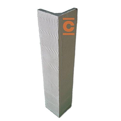 Copritubo a L 25x25 cm Isolcass - in Eps con grafite, nasconde facilmente tubazioni di termosifoni, acqua, gas, colonne di scarico.