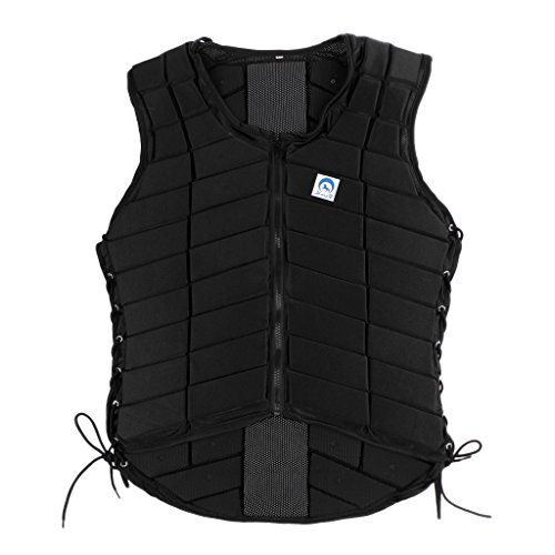 MonkeyJack Safety EVA Padded Breathable Horse Riding Equestrian Vest Protective Gear Body Protector Guard Shock Absorption Waistcoat - Kids Adult Kids CL