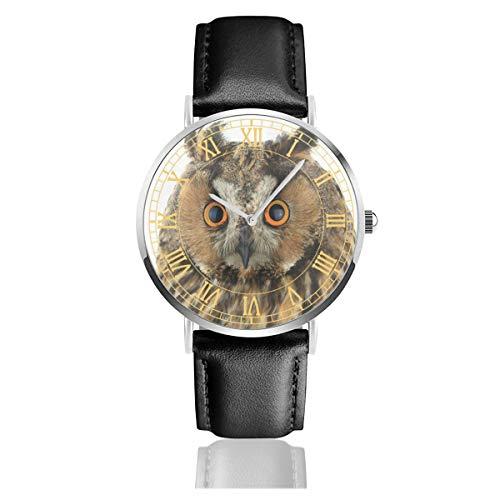 Portrait Owl On White Watch for Men, Water Resistance Wrist Watches Quartz Watch for Women