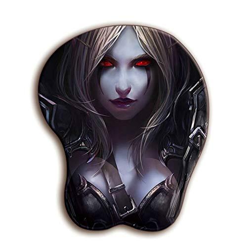 FFDDZJJ World Of Warcraft 3d Wow Mauspad Sexy Handballenauflage Weiches Silikagel Brust Büro Desktop Dekoration Gaming Gamer Mauspad