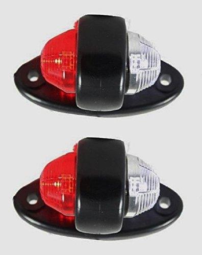 Lot de 2 feux de gabarit latéraux à LED blanc et rouge 24 V 12 V