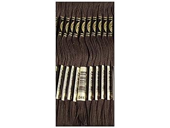 DMC Bulk Buy Thread 6-Strand Embroidery Cotton 8.7 Yards Ultra Dark Beaver Grey 117-844  12-Pack