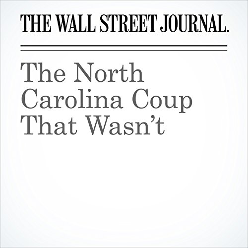 The North Carolina Coup That Wasn't cover art