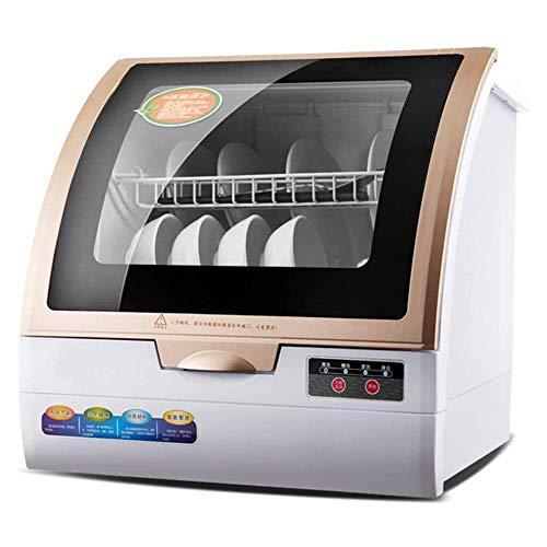 Lavavajillas De Encimera Portátil De 800 W, Compacto, Doméstico, Completamente Automático, con Rejilla para 6 Lugares Y Canasta para Cubiertos, para Oficina Y Cocina Doméstica