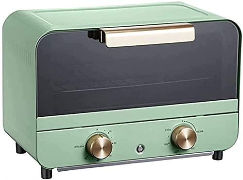 Horno eléctrico,Horno Sobremesa Tostadora horno, aire libre horno mini horno eléctrico pan horno máquina de hornear multifuncional automático 12l capacidad fácil de limpiar pastel pizza hornear hornea