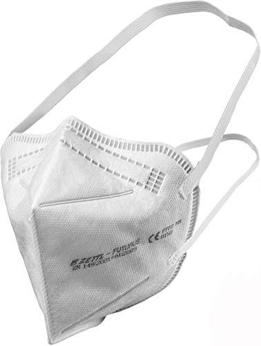 Zettl Futurus FFP2 Maske, Atemschutzmaske in Deutschland hergestellt, DEKRA CE zertifiziert nach EN149, einzeln verpackt, 10 Stück