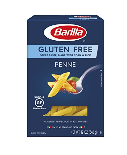 BARILLA Gluten Free Penne Pasta, 12 Ounce (Pack of 4/8) - Non-GMO Gluten Free Pasta Made with Blend of Corn & Rice - Vegan Pasta