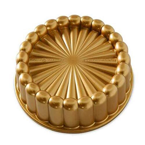 Sodial Charlotte Kuchenform, Einheitsgröße, für Weihnachtskuchen, Goldfarben