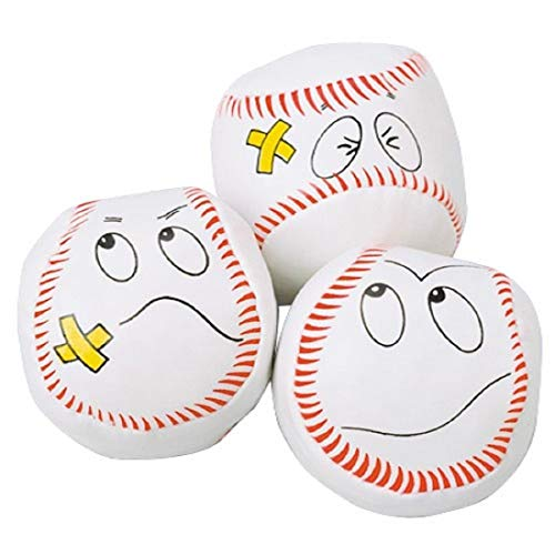 Dozen Baseball Funny Face Kick Balls