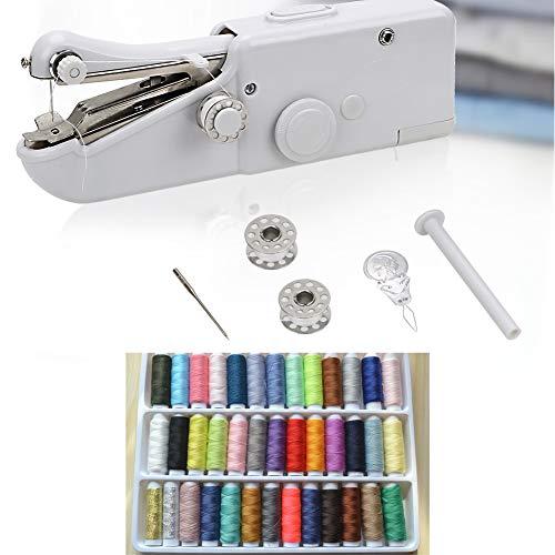 Huanxin Nähmaschine Anfänger, Handnähmaschine Für Anfänger Schnell Reparieren, DIY 39 Farbe Nähgarn Für Home Reise, Kleidung, Stoff