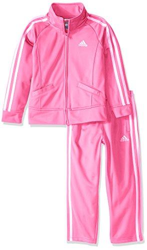 adidas Mädchen Trainingsanzug - rosa -