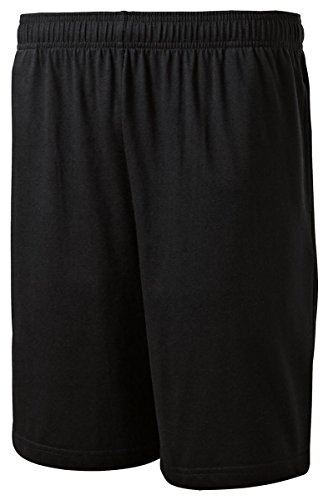 SPORT-TEK Men's Jersey Knit Short with Pockets L Black