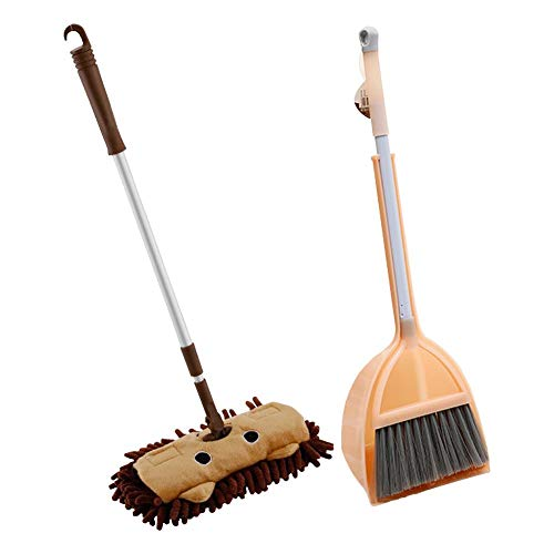 Toy Broom Set Kids Cleaning Set Housekeeping Cleaning Tools Set, 3 Piece Children Mini Pretend Play Cleaning Set Include Mop Broom Dustpan, Best Gift For 3,4,5,6 Year Old Boys And Girls