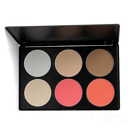 Delighted 6 Color Face Cosmetics Blusher Powder Makeup Concealer Palette