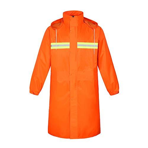 Deylaying Orange Universal Wasserdicht Mantel/Jacke/Poncho Reflektierend Arbeitskleidung für Verkehrskontrolle Warnung Sicherheit Regenbekleidung für Erwachsene