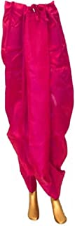 Indian Cultural Tussar silk pink Stitched Dhoti