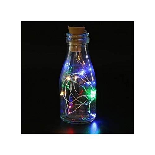 A-myt romantic and warm Christmas tree light wine bottle light wine bottle bottle shaped rope starry night sky solar fairy light home decoration 2M 20LED Colorful (Emitting Color : RGB)
