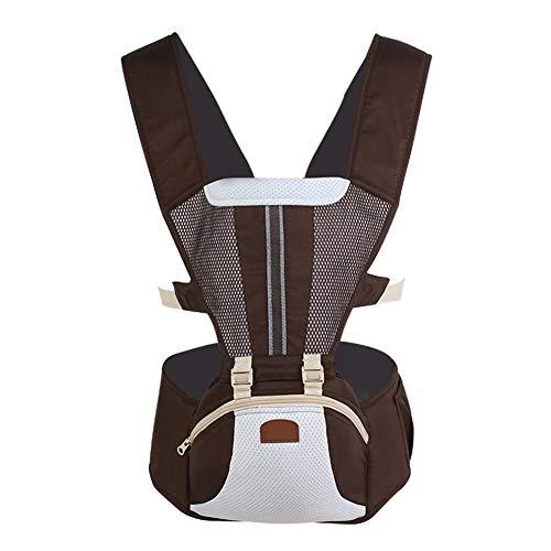 X&hui Multifunctionele baby draagzak katoen opslag taille kruk 3 in 1 ademende licht mesh kangoeroe rug pasgeboren baby 0 tot 36 maanden (3,5 tot 20 kg)