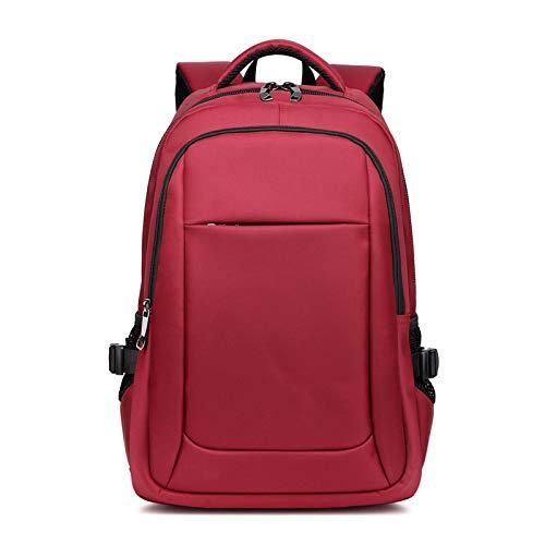 Mochila cómoda y Duradera Impermeable Bolsa para Portátil Duradera Mochila Impermeable Carga USB Antirrobo Hombres Viaje