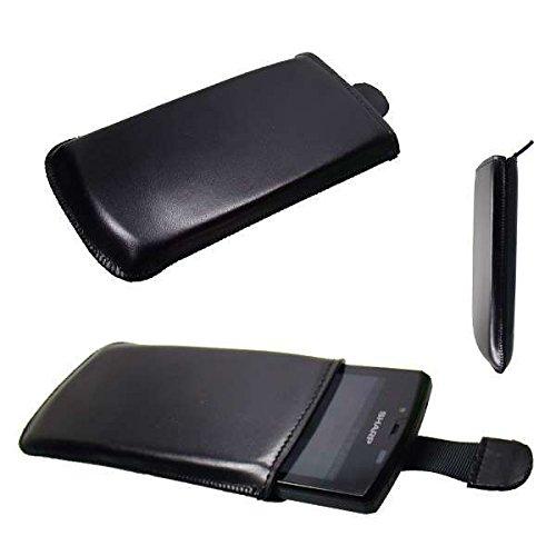 caseroxx Slide-Etui für Sharp Aquos SH80F, Tasche (Slide-Etui in schwarz)