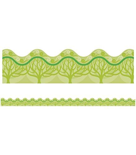 Carson-Dellosa 108081 Eco-Trees Scalloped Borders