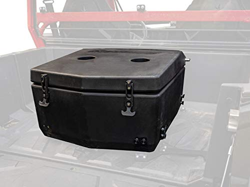 SuperATV Heavy Duty Insulated Rear Cooler/Cargo Box for Polaris General 1000 / General 4 (2016+) - Sealed Lid Keeps Ice In & Mud Out!