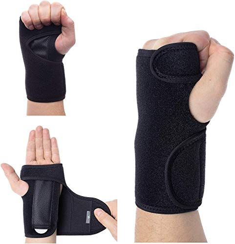 Foretra PAIR Advanced Wrist Support Carpal Tunnel Splint - Black Wrist Brace for Immediate Pain Relief from Carpal Tunnel Syndrome CTS, Wrist Pain, Sprains, RSI and Arthritis (Includes Right and Left)