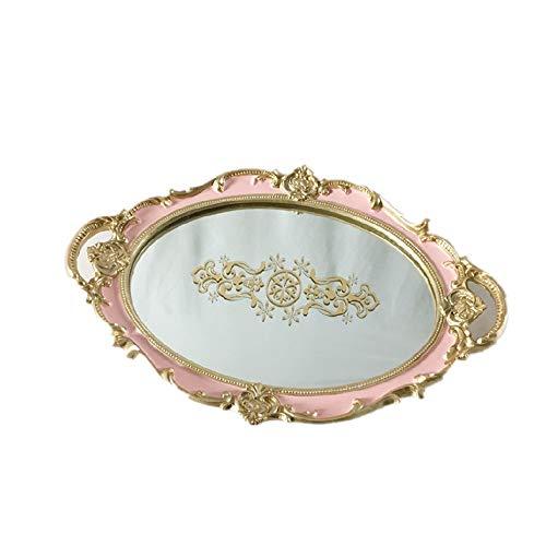 Bandeja de servicio decorativa Bandeja reflejada, bandeja de vanidad de oro Tray de perfume de la bandeja de la bandeja de la bandeja de la bandeja de la mesa de la mesa de la bandeja de oro de la ban