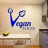 ajcwhml adesivo murale colorato cibo vegan rimovibile per arredamento casa camera da letto arte murale 42 cm x 50 cm