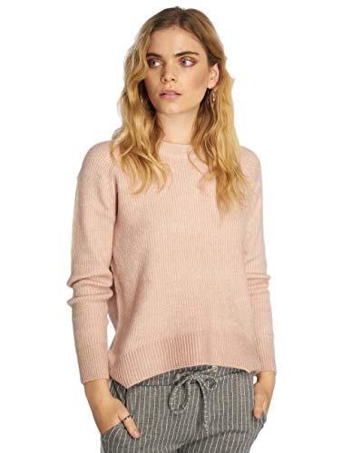 ONLY Damen onlORLEANS L/S O-Neck KNT NOOS Pullover, Rosa (Adobe Rose Detail:W.Melange), 38 (Herstellergröße: M)