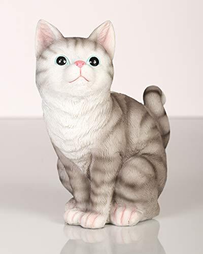Topshop24you wunderschöne Spardose,Sparbüchse,Sparschwein Katze, Größe ca. 18 cm mit Gummipfropfen