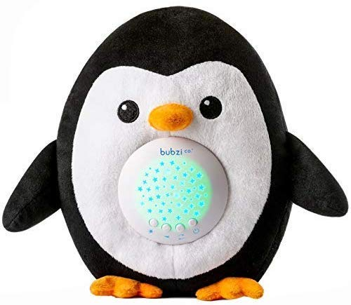 Bubzi Co Baby Toys Penguin White Noise Sound Machine, Toddler Sleep Aid Night Light, Unique Baby Girl Gifts & Baby Boy Gifts, Baby Shower Gifts, Portable Baby Soother, New Baby Gift, Gender Neutral