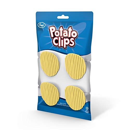 Genuine Fred Potato Chip Bag Closure Clips Set of 4 Light Yellow