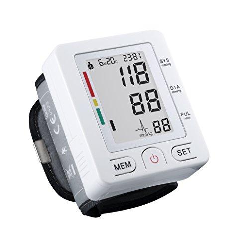Digital de Tensiómetro de muñeca con caso, FDA genehmigt, gran pantalla LCD, Capacidad de Memoria 90, 2User Mode