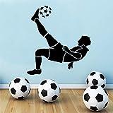 Tianpengyuanshuai Exquisite Fußball Boy Fußball Wandaufkleber Boy Schlafzimmer Dekor Aufkleber Wohnzimmer Kid Boy Room Decor87x93cm