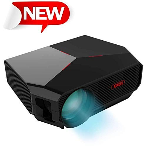 "Projector,XINDA HD Video Projector 3800L Outdoor Movie Projector,200"" Home Theater Projector Support 1080P,Compatible with Fire TV Stick,PS4, HDMI, VGA, AV and USB …"