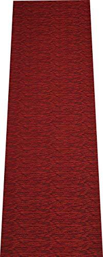 COMERCIAL CANDELA FELPUDOS Y ALFOMBRAS Alfombra de Pasillo de Textil Resinado Antimanchas, Lavable | Base PVC Antideslizante y Aislante Diseño Lluvia Color (Naranja, 52_x_150 CM)